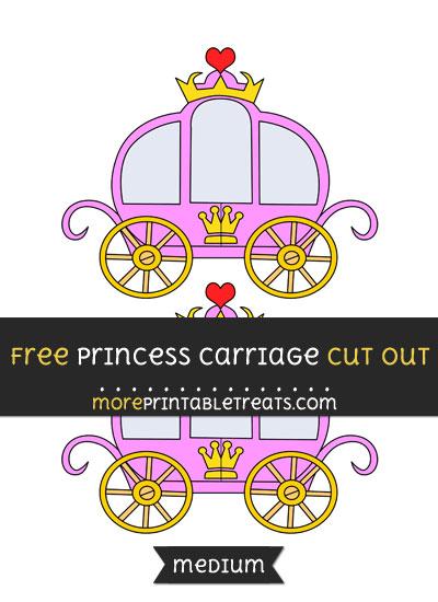 Free Princess Carriage Cut Out - Medium Size Printable
