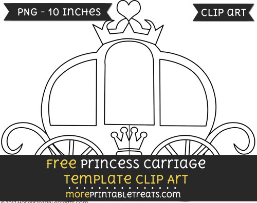 Free Princess Carriage Template - Clipart