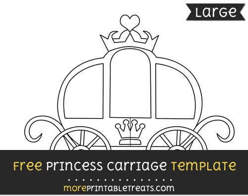 Free Princess Carriage Template - Large