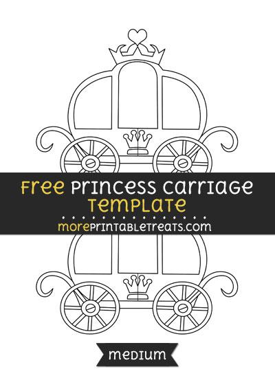Free Princess Carriage Template - Medium