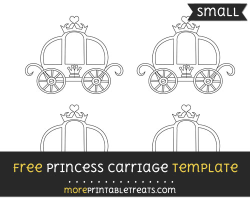 Free Princess Carriage Template - Small