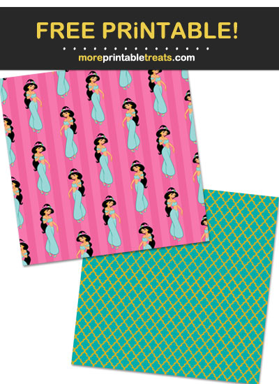 Free Printable Princess Jasmine Pattern Paper