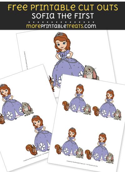 Free Princess Sofia with Animal Friends Cut Outs - Printable - Sofia the First