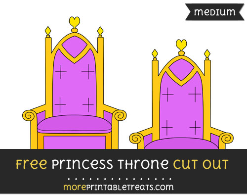 Free Princess Throne Cut Out - Medium Size Printable