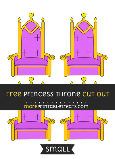 Free Princess Throne Cut Out - Small Size Printable