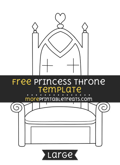 Free Princess Throne Template - Large