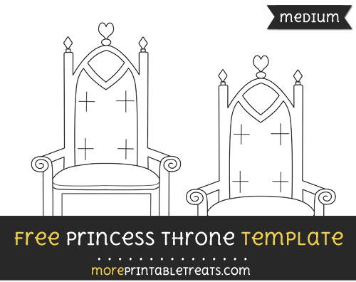 Free Princess Throne Template - Medium