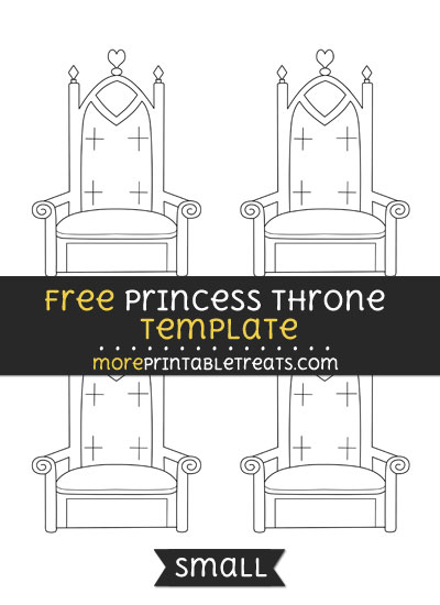 Free Princess Throne Template - Small