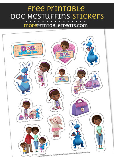 FREE Print at Home Doc McStuffins Stickers