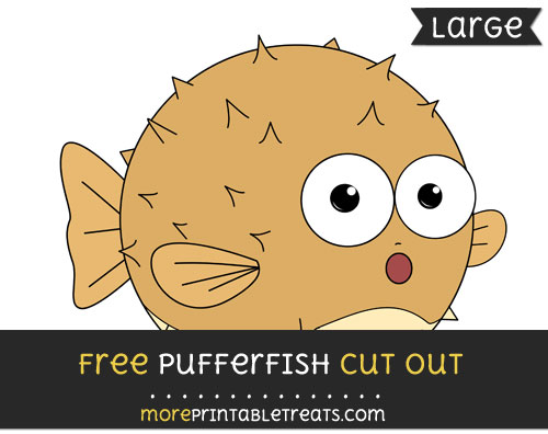 Free Pufferfish Cut Out - Large size printable