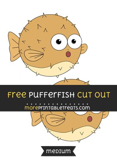Free Pufferfish Cut Out - Medium Size Printable