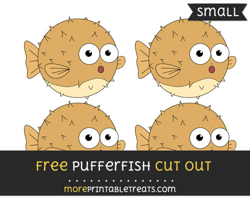 Free Pufferfish Cut Out - Small Size Printable