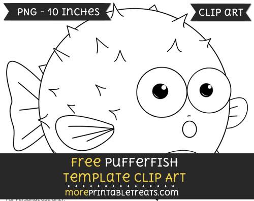 Free Pufferfish Template - Clipart