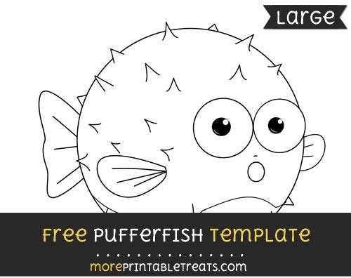 Free Pufferfish Template - Large