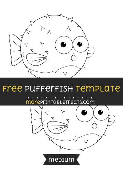 Free Pufferfish Template - Medium
