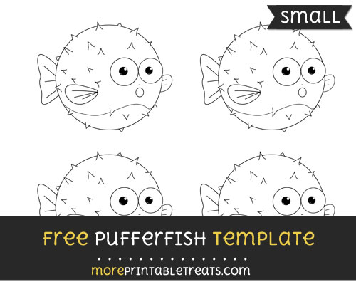 Free Pufferfish Template - Small