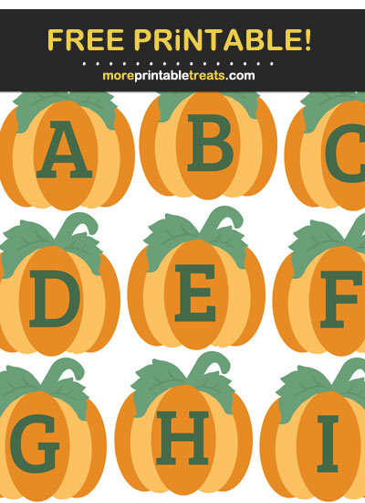 Free Printable Pumpkin Alphabet - Letters, Numbers, Punctuation