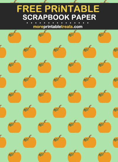 Free Printable Pumpkins Scrapbook Paper