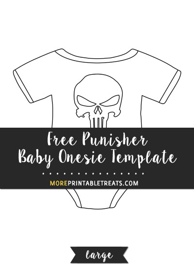 Free Punisher Baby Onesie Template - Large
