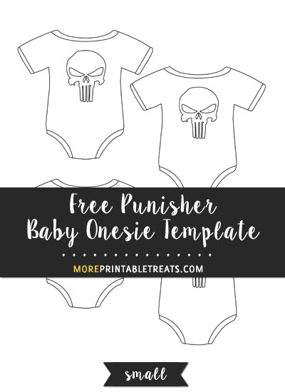 Free Punisher Baby Onesie Template - Small Size