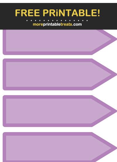Free Printable Purple Arrow Flag Labels
