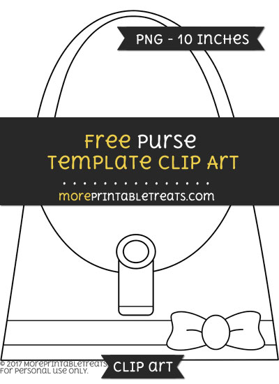 Free Purse Template - Clipart