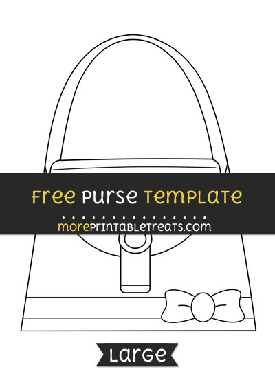 Free Purse Template - Large