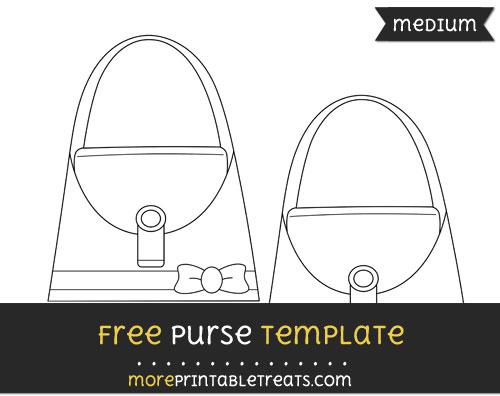 Free Purse Template - Medium