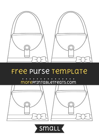 Free Purse Template - Small