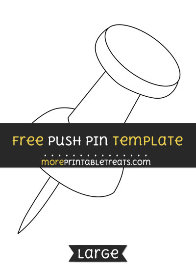 Free Push Pin Template - Large