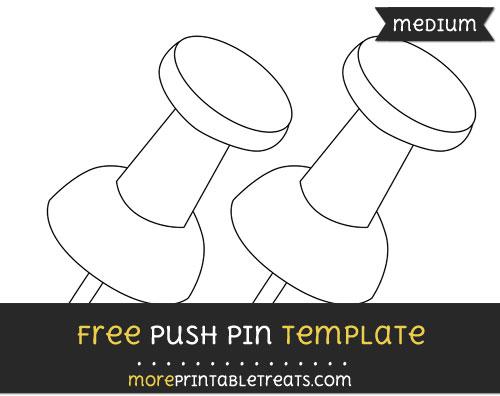 Free Push Pin Template - Medium