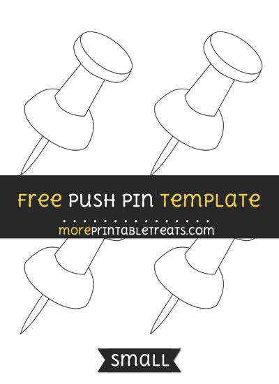 Free Push Pin Template - Small