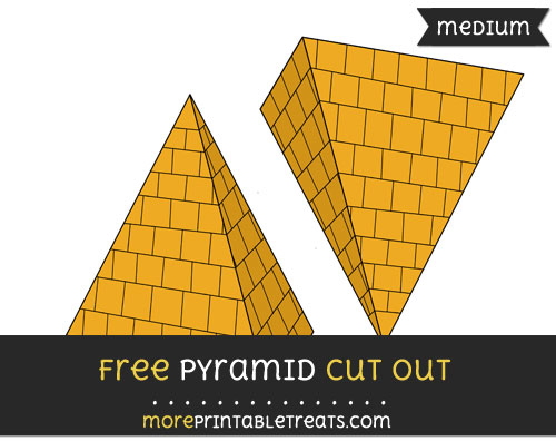 Free Pyramid Cut Out - Medium Size Printable
