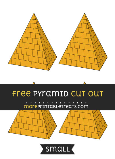 Free Pyramid Cut Out - Small Size Printable