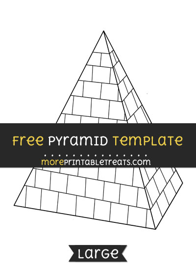 Free Pyramid Template - Large