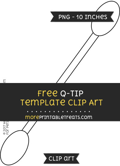 Free Q Tip Template - Clipart