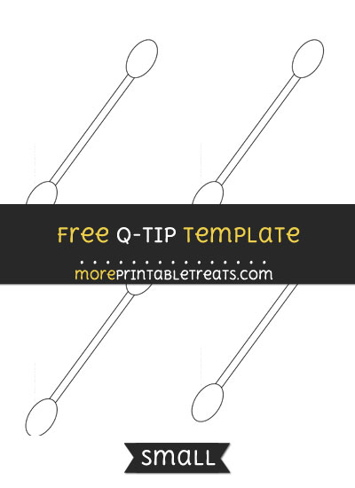 Free Q Tip Template - Small