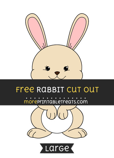 Free Rabbit Cut Out - Large size printable
