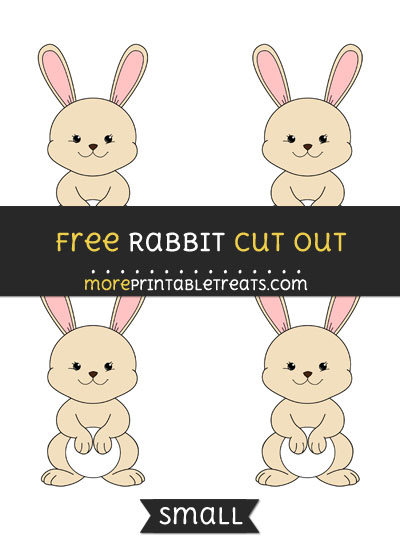 Free Rabbit Cut Out - Small Size Printable