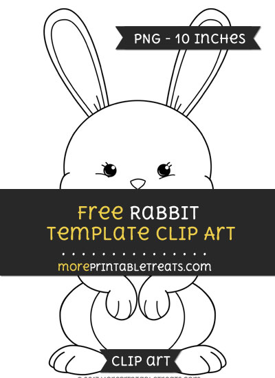 Free Rabbit Template - Clipart