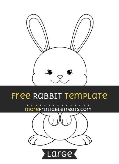 Free Rabbit Template - Large