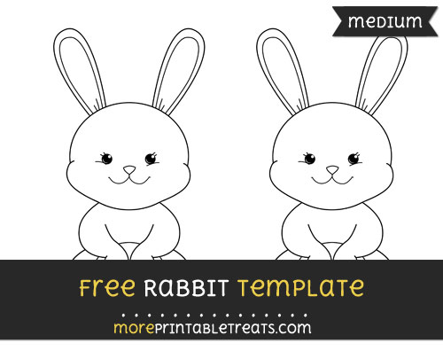 Free Rabbit Template - Medium
