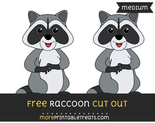 Free Raccoon Cut Out - Medium Size Printable