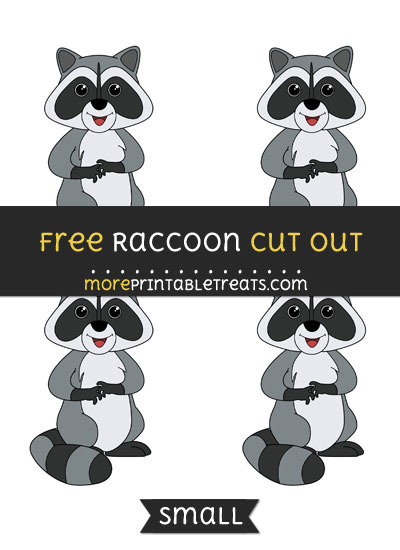 Free Raccoon Cut Out - Small Size Printable