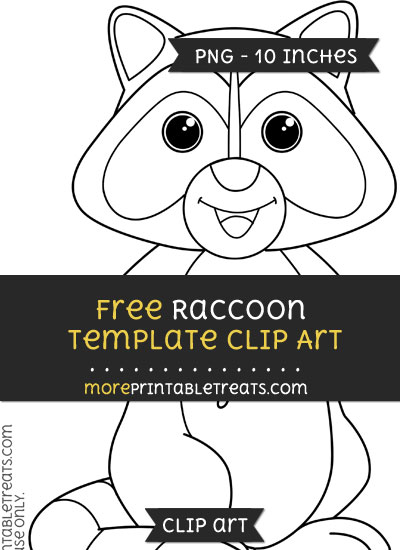 Free Raccoon Template - Clipart