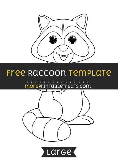 Free Raccoon Template - Large