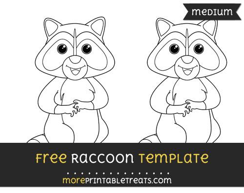 Free Raccoon Template - Medium