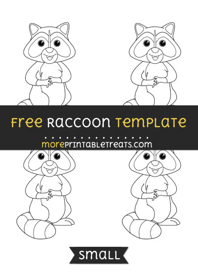 Free Raccoon Template - Small
