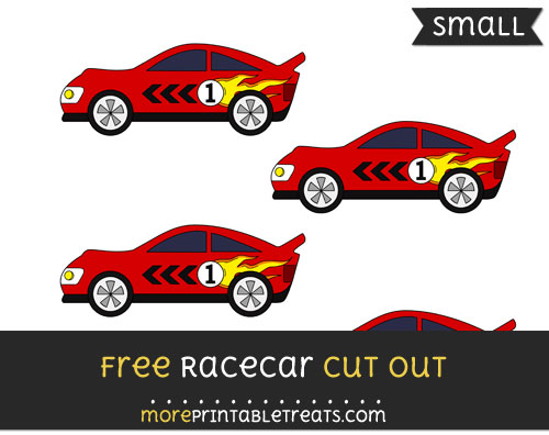 Free Racecar Cut Out - Small Size Printable