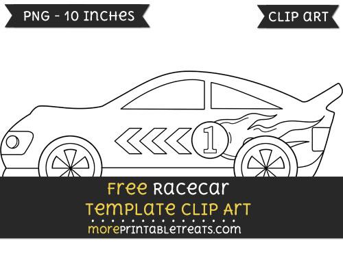 Free Racecar Template - Clipart
